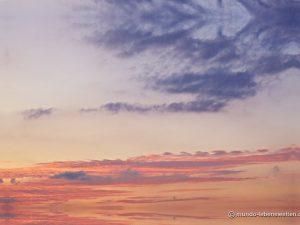 Deckenbild Himmel Wolken Abendstimmung