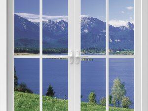 optische-barriere-fenster-mit-bergsee